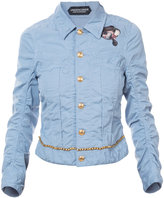 Undercover denim kiss cameo jacket - women - Cotton/Linen/Flax - 1