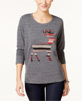 Style&Co. Style & Co Petite Reindeer Graphic Knit Top, Only at Macy's