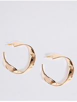 M&S Collection Dented Hoop Earrings