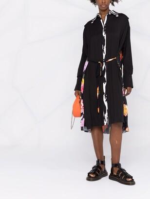 MSGM Patchwork-Print Shirt Dress