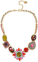 Betsey Johnson Mixed Crystal and Gemstone Statement Necklace