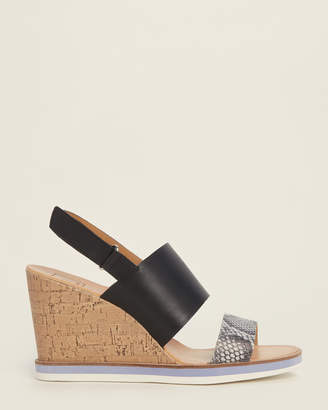 Dolce Vita Black Lanaya Cork Wedge Sandals