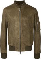 Desa Collection suede bomber jacket