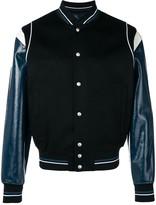 Givenchy contrast sleeve bomber jacket