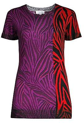 Escada Sport Women's Solemna Two-Tone Print Wool Tee