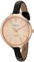 Johan Eric Women's JE2100-09-016 Herlev Slim Analog Display Quartz Black Watch