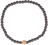 Luis Morais G6 Satin Finish Side Skull beaded bracelet