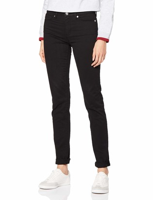 Love Moschino Women's Heart Print On Back Pocket_Skinny Fit Trousers