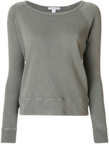 James Perse boat neck top - women - Cotton - I