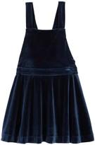 Joe Fresh Velvet Overalls Dress (Toddler & Little Girls)