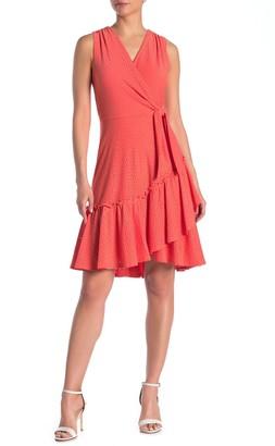 Robbie Bee Eyelet Inset Sleeveless Knit Dress