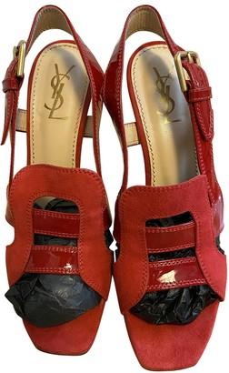 Saint Laurent Red Suede Heels