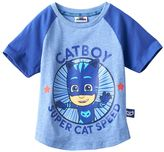 "Toddler Boy PJ Masks ""Catboy Super Cat Speed"" Raglan Short Sleeve Graphic Tee"