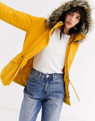 Only fur parka-Yellow