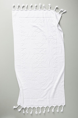 Anthropologie Brewer Bath Towel Collection By in White Size BATH TOWEL