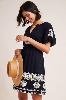 Anthropologie Orla Embroidered Mini Dress