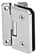CR Laurence CRL Chrome Monaco 054 Series Wall Mount Offset Back Plate Hinge
