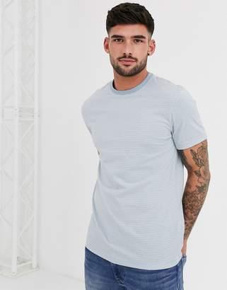 New Look mini stripe t-shirt in light blue