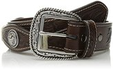 Ariat Men's Small Circle Concho Scalop Brown