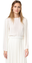 Elizabeth and James Ava Pleated Sleeve Blouse