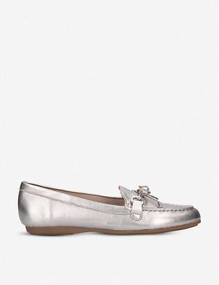Aldo Adrerinia metallic leather loafers