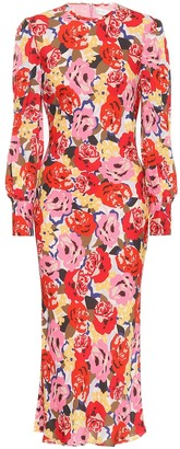 Rebecca Vallance Blume crApe midi dress