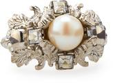 Alexander McQueen Leafy Pearl Ring