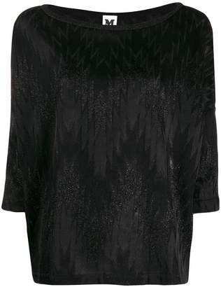 M Missoni zig zag pattern knitted top