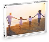 """HESIN 5""""X7""""Clear Acrylic Magnet Photo Frame, Double Sided Picture frame"""