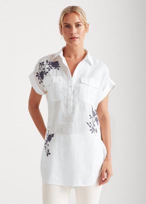 Ralph Lauren Embroidered Linen Tunic Shirt