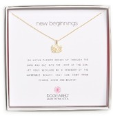 Dogeared Women's Lotus Reminder Pendant Necklace