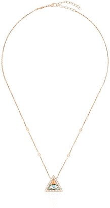 Jacquie Aiche 14kt Rose Gold Triangle Eye Necklace