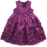 Bonnie Jean Girls Dress, Little Girls Crossover Soutache Dress