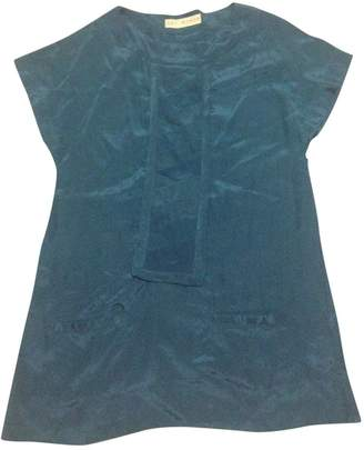 Gat Rimon Blue Silk Dress for Women