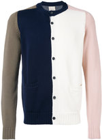 Wooster + Lardini colour block cardigan