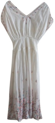 Bel Air White Cotton Dress for Women