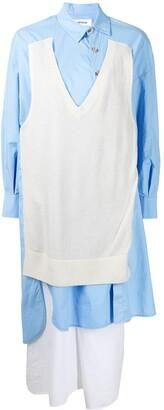 Enfold Multi-Panel Design Shirt Dress