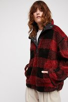Free People Oh So Cozy Plaid Pullover