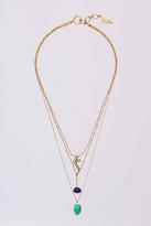 Diane von Furstenberg Three Row Layered Necklace