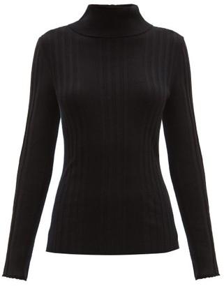 Proenza Schouler Rib-knitted Silk-blend Sweater - Black