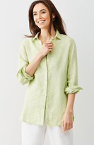 J. Jill Yarn-Dyed Linen Big Shirt