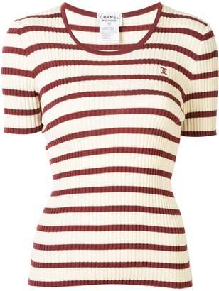 1998s CC border short sleeve knit tops