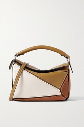Loewe Puzzle Mini Color-block Leather Shoulder Bag