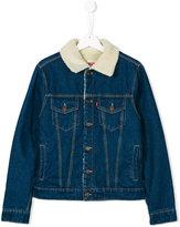Levi's Kids denim jacket with graphic back print