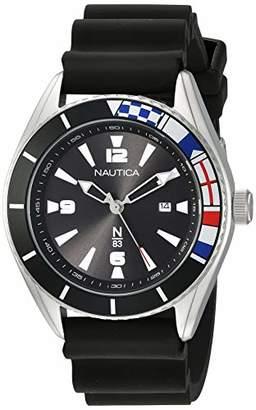Nautica N83 Men's NAPUSS901 Urban Surf Silicone Strap Watch