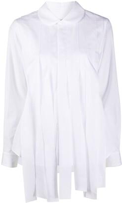 Comme des Garçons Comme des Garçons Long-Sleeved Pintuck Detail Shirt