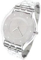 Swatch Women's Skin SFK356G Silver Stainless-Steel Swiss Quartz Watch with Silver Dial