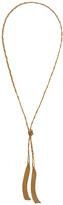 Diane von Furstenberg Braided Chain Tassel Necklace