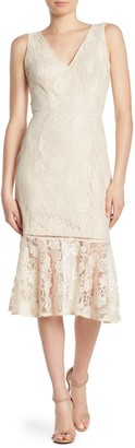 Alexia Admor Kourtney Lace Midi Dress