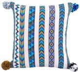 Karma Living Chevron Decorative Pillow - 18 x 18 - Blue